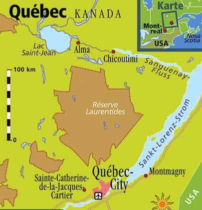 Knapp viereinhalb Mal so groß wie Deutschland: Die kanadische Provinz Québec erstreckt sich bis hinauf in die Arktis