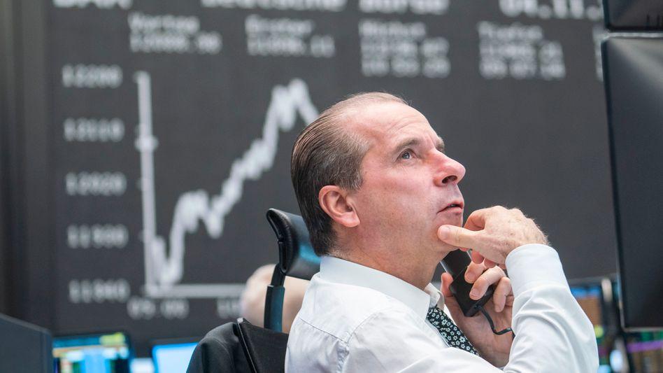 Börsianer in Frankfurt: Am Aktienmarkt ist die Stimmung zur Wochenmitte gut