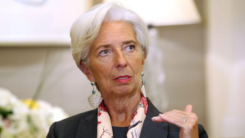 """IWF-Chefin Lagarde: """"Die Exportüberschüsse sollten für Investments in die Infrastruktur genutzt werden."""""""