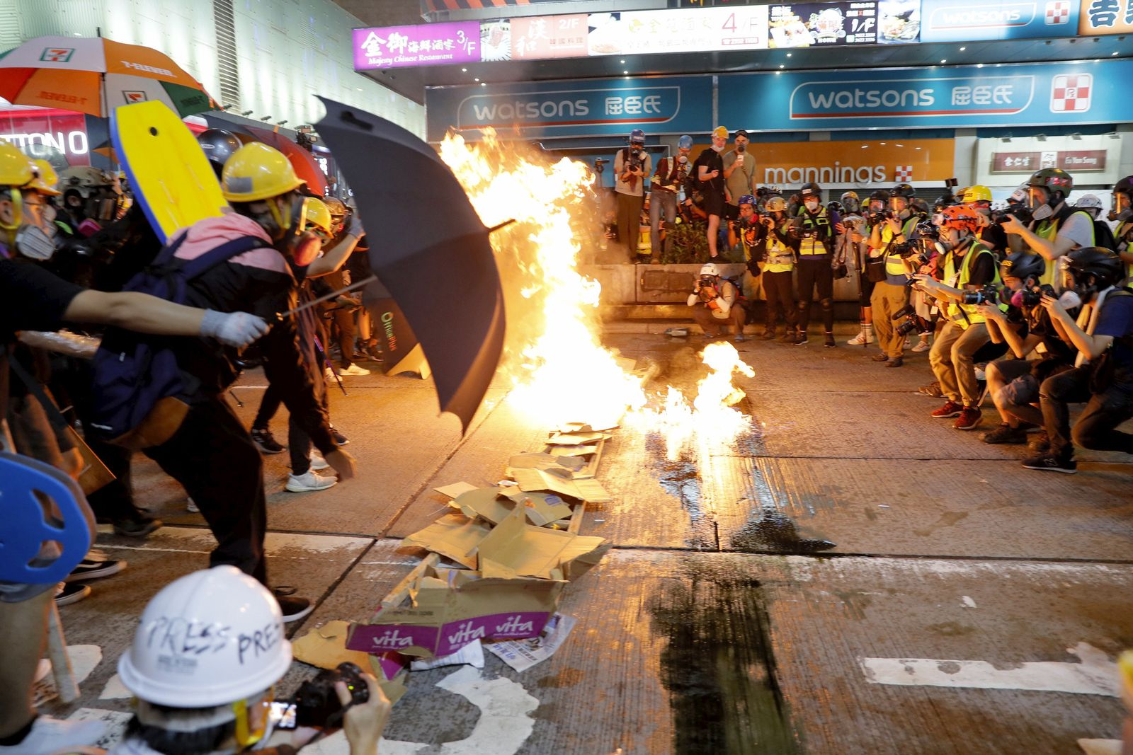 Proteste in Hongkong/ August 2019