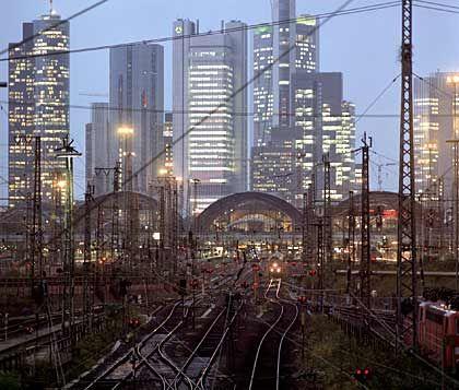 Aufwärtstrend: Die deutsche Wirtschaft ist gewachsen (im Bild die Frankfurter Skyline)