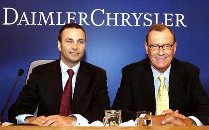 Enttäuschten die Märkte: Daimler-Chef Schrempp (r.) und Finanzvorstand Bodo Uebber
