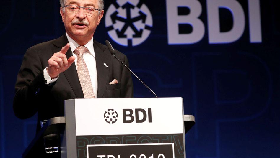 Stillhalter: Von BDI-Chef Dieter Kempf ist 2020 wenig zu hören. Hier spricht er auf dem Industrietag 2019.