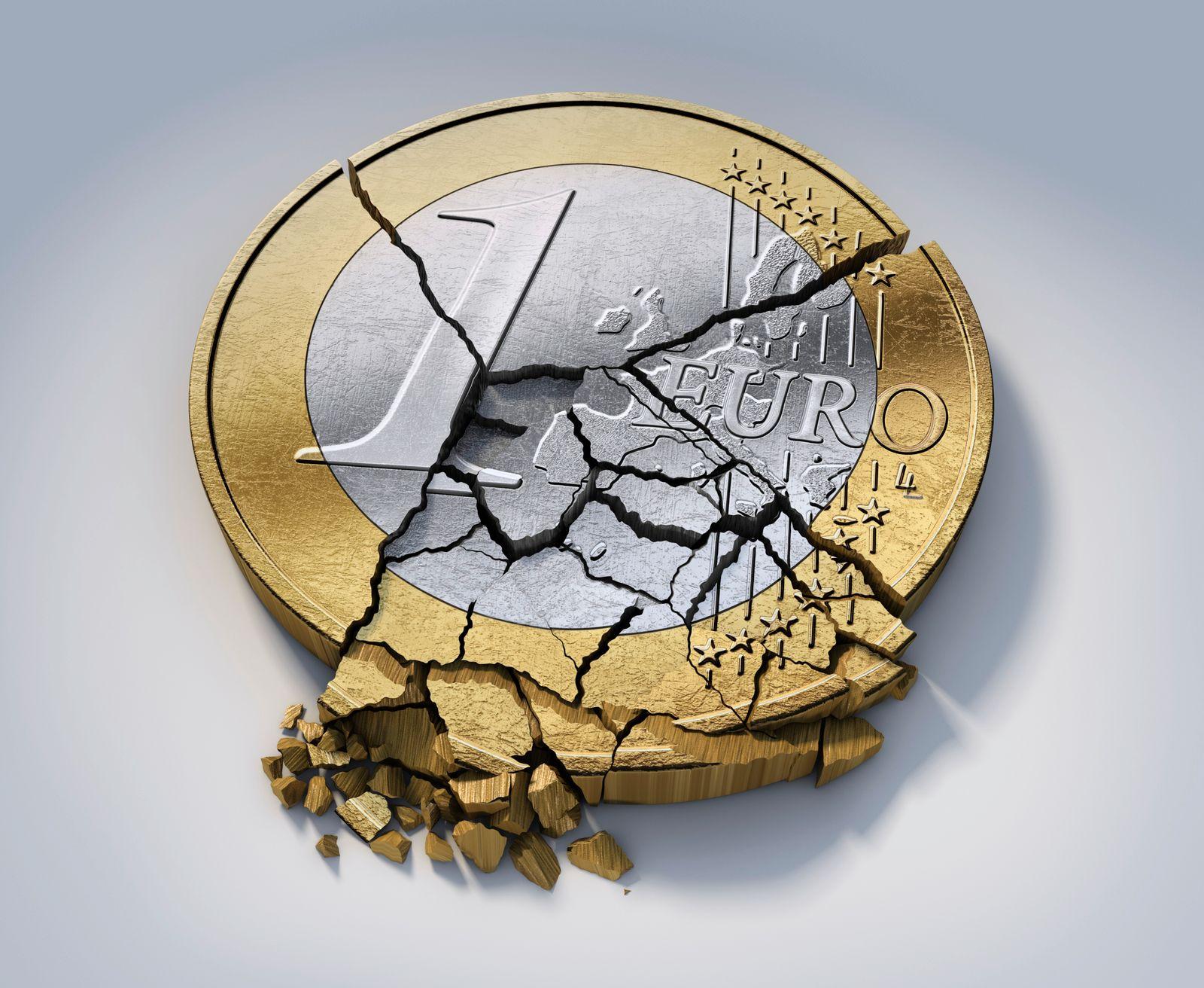 NICHT MEHR VERWENDEN! - Zerbrochene Euromünze
