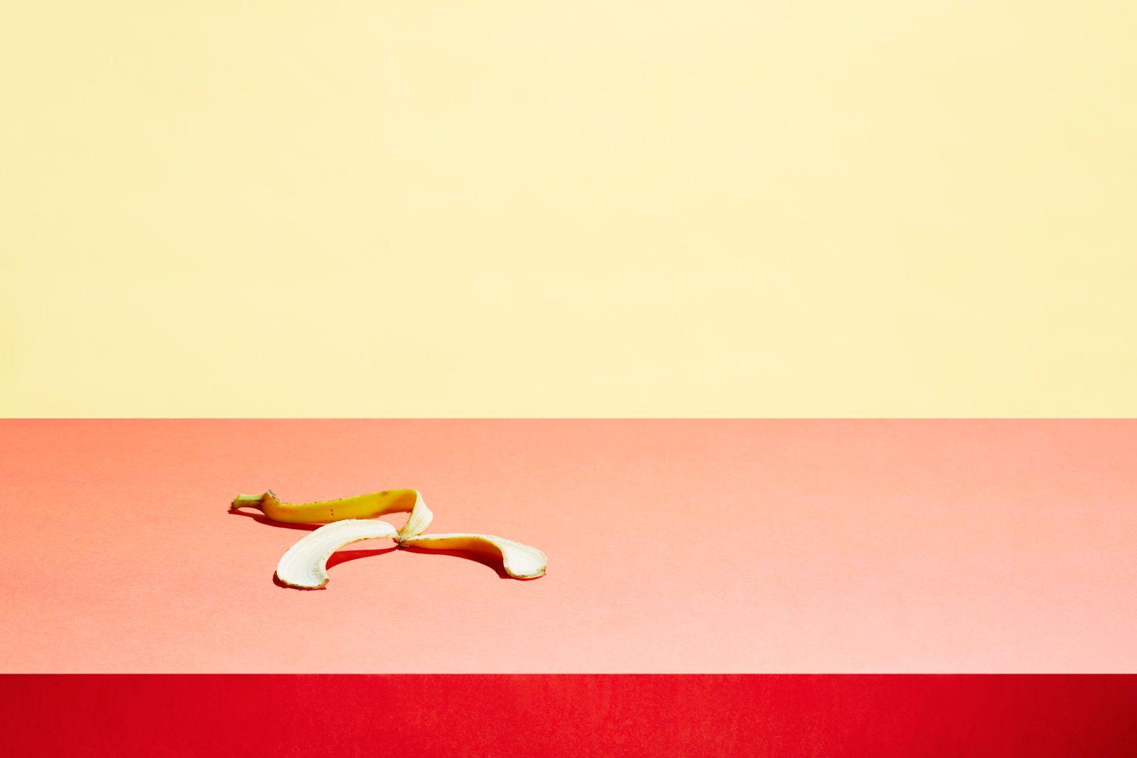 Banana skin in a table top