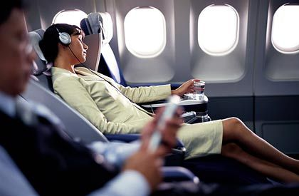 Von den Sarmaßnahmen nicht betroffen: Lufthansa Business-Class