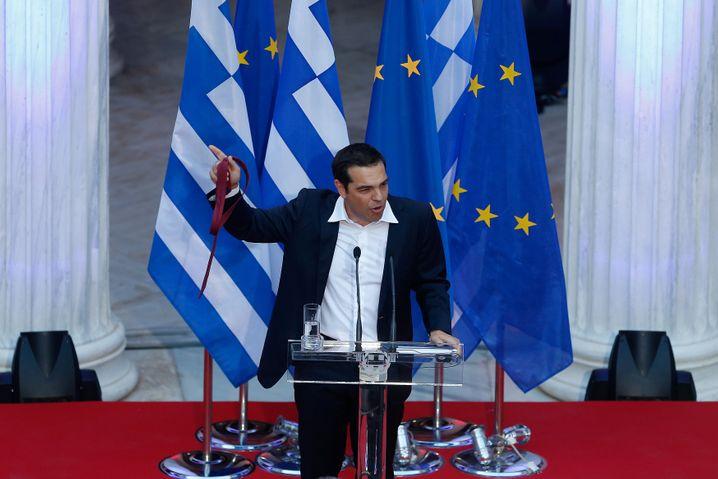 Mit Spannung wird die Rede von Ministerpräsident Alexis Tsipras erwartet