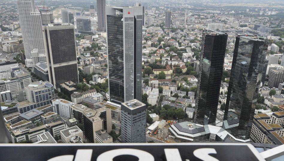 Banken in Frankfurt: Die EU regelt die Modalitäten möglicher Bankpleiten
