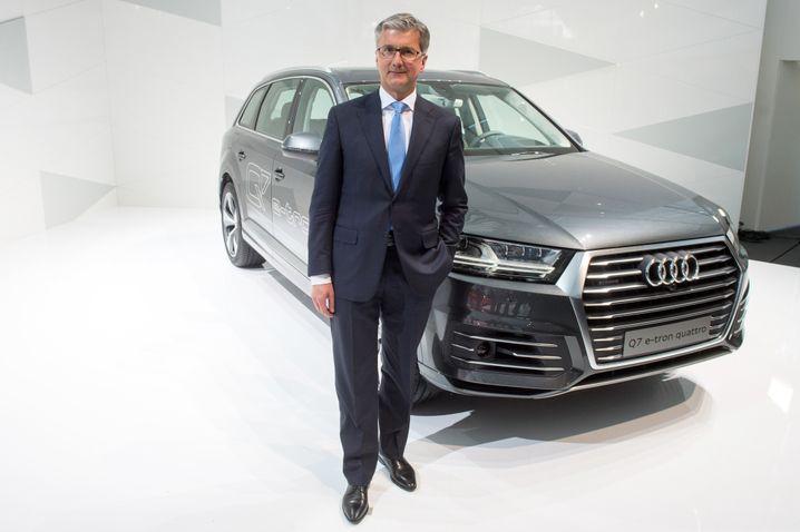 """Audi-Chef Stadler: """"Das Auto der Zukunft bewegt den American Dream"""", lautet der Titel seiner Rede heute vor der Amerikanischen Handelskammer in Frankfurt"""