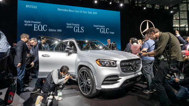 Mercedes-Benz GLS auf der New Yorker Automesse: Dick und durstig kommt in USA gut an
