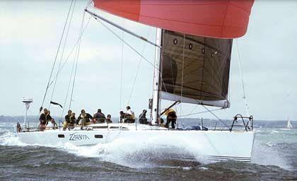 Unter den Favoriten: Die Zaraffa, ein 19,8 Meter langer Racer von Huntington Sheldon aus Shelbourne, Vermont/USA