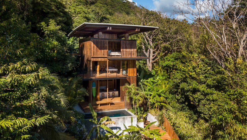 Dschungelhaus: Hölzerne Surferhütte in Santa Teresa, Costa Rica