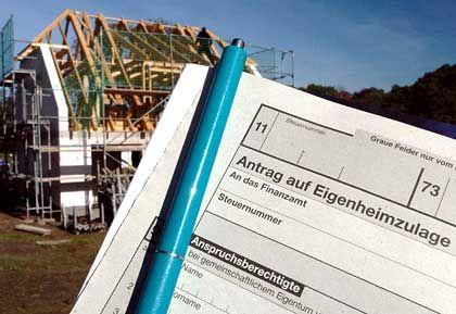 Staatszuschüsse gefährdet: Eigenheimzulage beim Hausbau