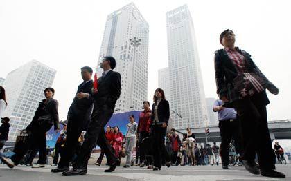 In den Himmel gewachsen: Bankenviertel in Peking