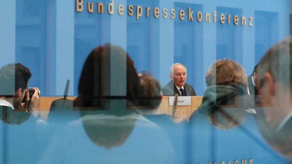Finanzminister Schäuble in der Bundespressekonferenz