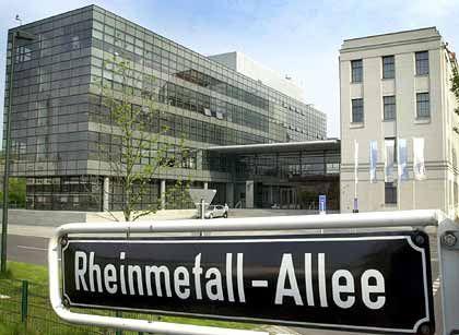 Rheinmetall-Zentrale in Düsseldorf: Kursplus nach möglichem Auftrag der britischen Armee