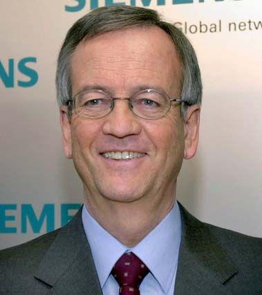 Zufrieden mit dem Verlauf des Quartals: Siemens-Chef von Pierer