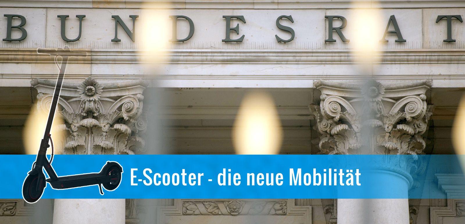 EINMALIGE VERWENDUNG MONTAGE E-Scooter - die neue Mobilität