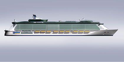 Nie war ein Kreuzfahrtschiff größer und teurer: Das erste Bild des neuen Superlativ-Schiffs