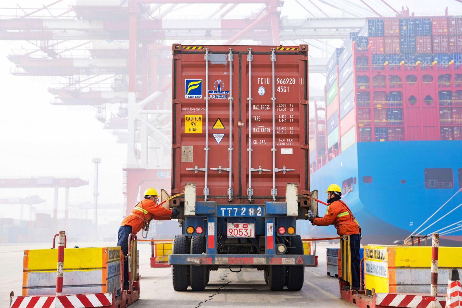 China Hafen Exporte Handel