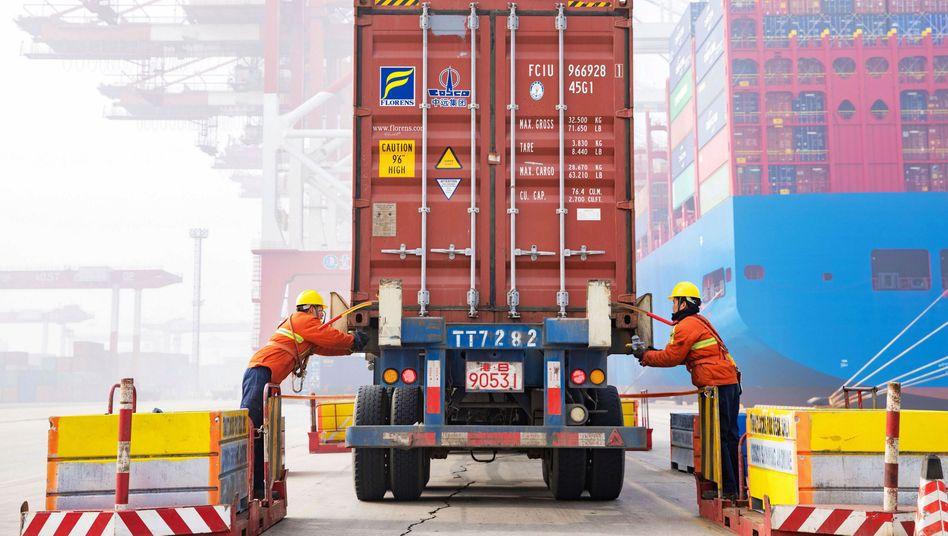 Fertig zum weltweiten Transport: Chinesische Exporteur profitierten zuletzt davon, dass sie viele Güter herstellen, die in der Pandemie weltweit gefragt sind