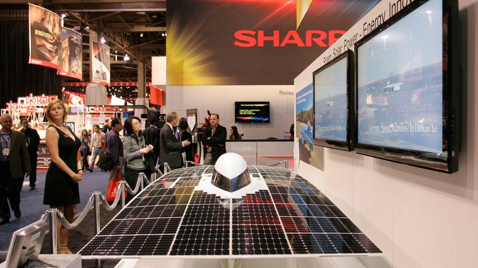 US-Solarmesse 2010: Damals gab Sharp noch einen Weltmarktanteil von 25 Prozent an