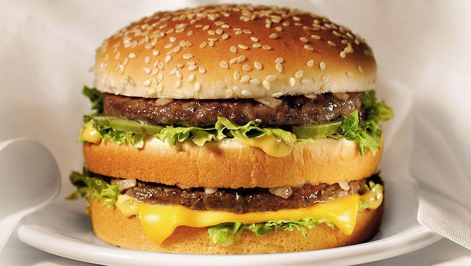 BigMac-Burger von McDonald's (nicht vegan)