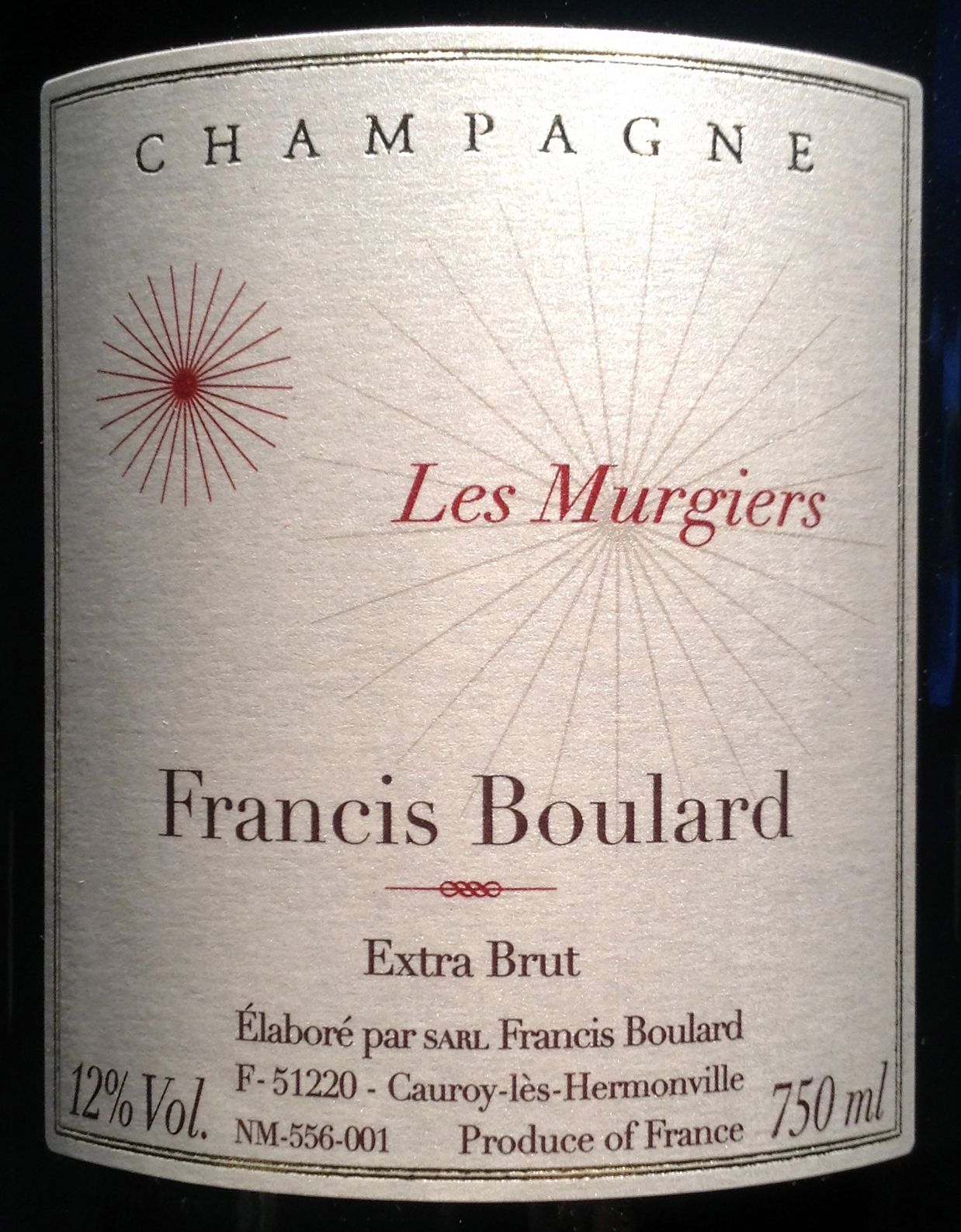 EINMALIGE VERWENDUNG 5: Cuvées / Francis Boulard, Cauroy-lès-Hermonville