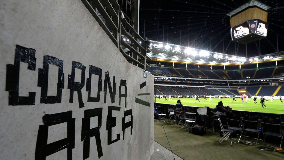 """Corona Area"" - Foto aus der Frankfurter Commerzbank-Arena"