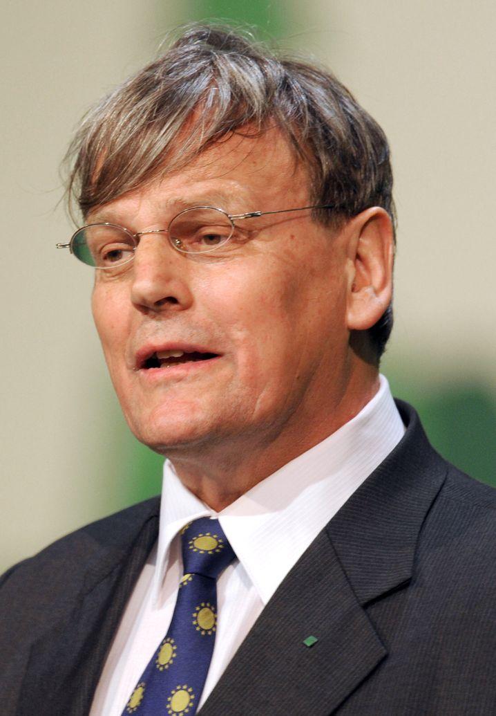 Eicke Weber, Leiter des Fraunhofer-Instituts für solare Energiesysteme in Freiburg, hier pikanterweise in einer Aufnahme vom Bundesdelegiertenkonferenz von Bündnis 90/Die Grünen in Freiburg im Jahr 2010.