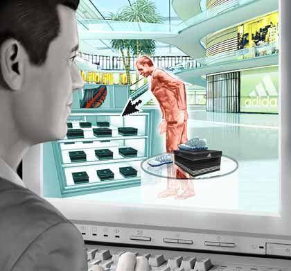 Einkaufen mal anders: Mit dem virtuellen Ich beim Einkaufsbummel