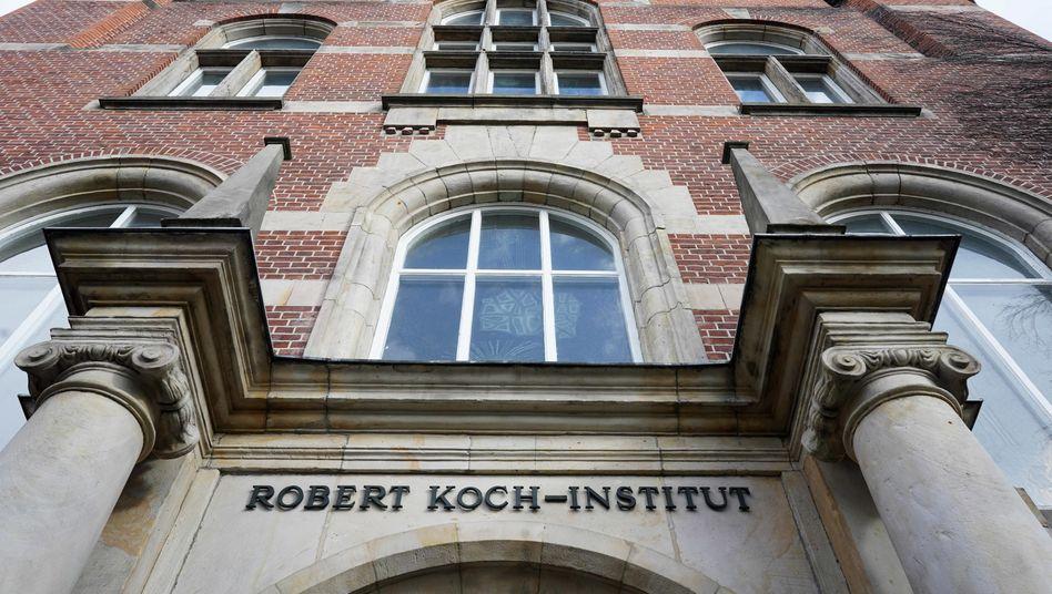 Name missbraucht: Eingang zum Robert-Koch-Institut in Berlin.