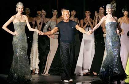 Freut sich über die Anerkennung: Stardesigner Giorgio Armani in Rom