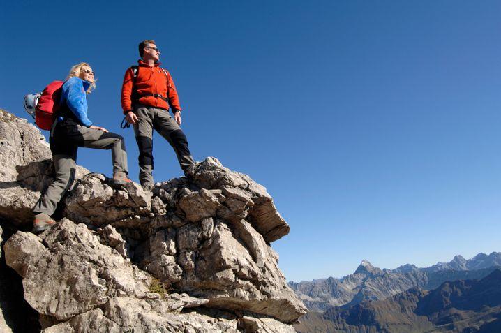 Der Hindelanger Klettersteig führt von Oberstdorf auf den 2280 Meter hohen Großen Daumen.