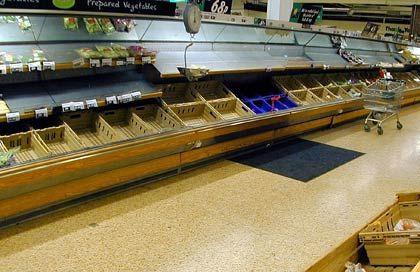 Leere Regale: Wird es bald nicht mehr genug Nahrungsmittel geben?