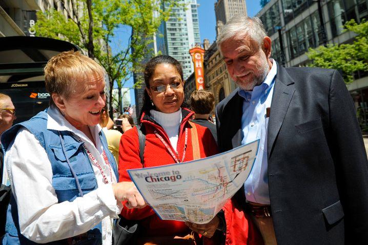 Ein Einheimischer wird zum Tourguide: Dieses Prinzip steckt hinter der Organisation Chicago Greeter.
