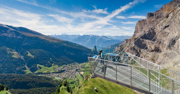Bietet genug Platz für größere Gruppen: der Hot Spot Gemmi am Gemmipass im Schweizer Wallis.