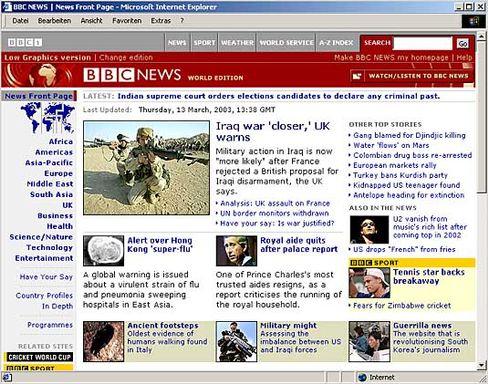 Screenshot der BBC News: 1400 Mitarbeiter wechseln den Arbeitgeber