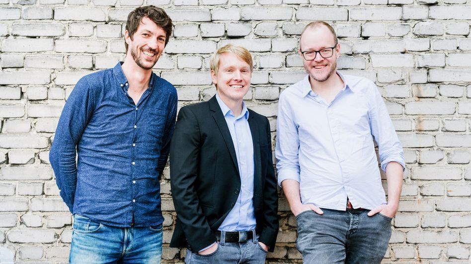 Weiter geht's: Die Comatch-Gründer Jan Schächtele und Christoph Hardt sowie ihr Co-Geschäftsführer Dirk Schuran.
