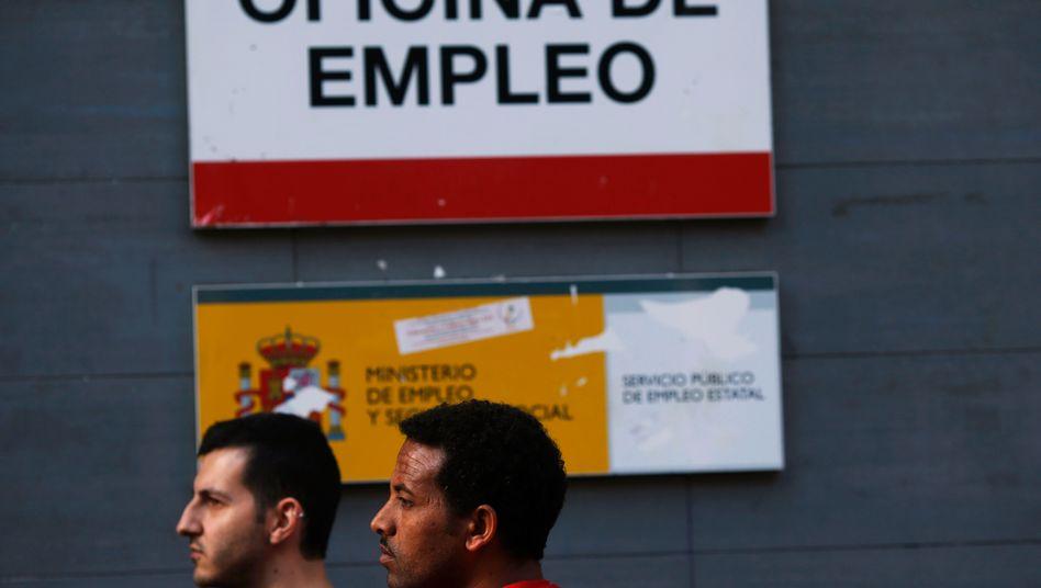 Jobsuchende in Madrid: In Spanien und Griechenland ist weiterhin jeder Vierte ohne Job