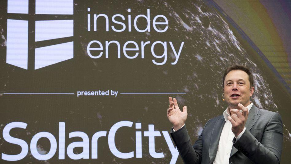 Tesla-Chef Elon Musk war von der Übernahme des Solarmodul-Herstellers Solar City überzeugt.