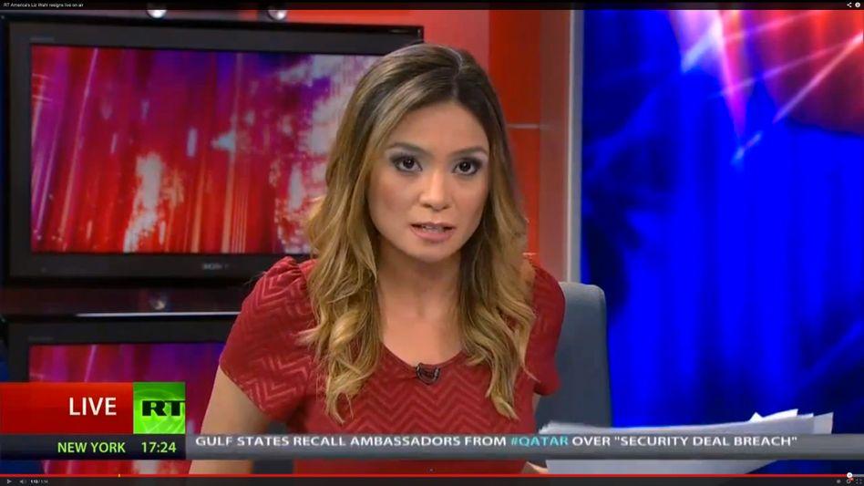 Journalistin Liz Wahl: Screenshot der Kündigung (Youtube/Russia Today)