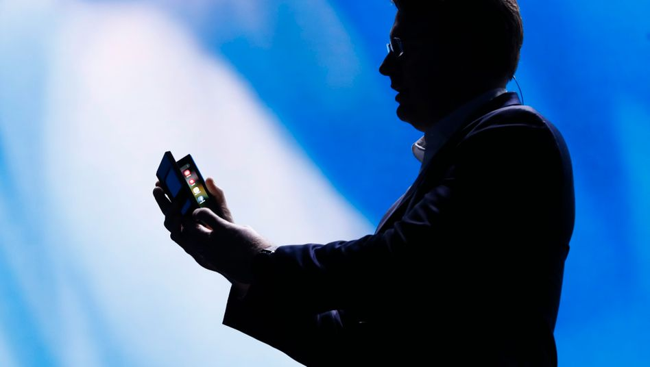 Samsung-Manager Justin Denison während einer Entwickler-Konferenz in San Francisco im November 2018.