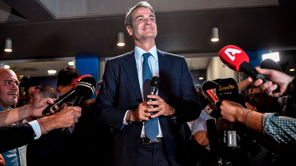 Kyriakos Mitsotakis: Der Chef der Nea Dimokratia verdrängt Premier Alexis Tsipras aus dem Amt