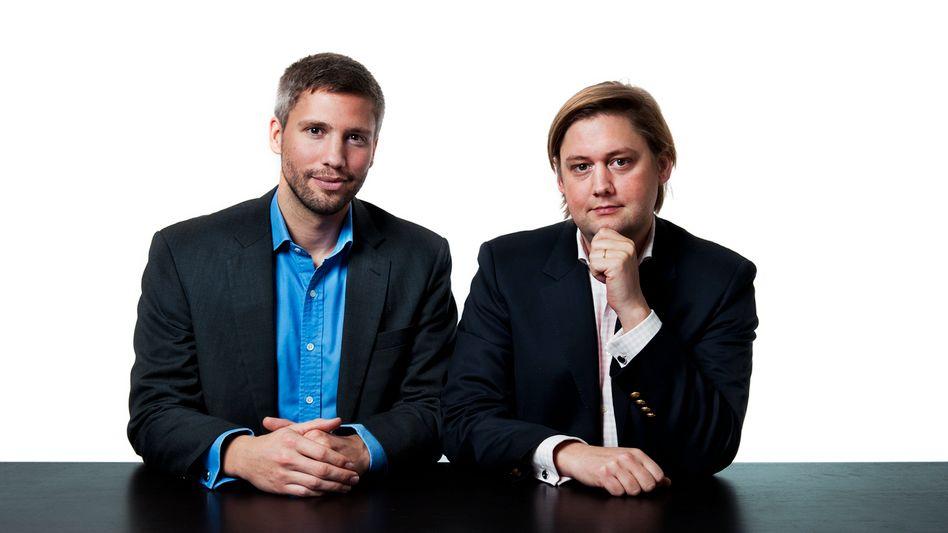 Sven Külper (l.) und Niclaus Mewes gründeten 2009 Mytaxi. Knapp fünf Jahre später verkauften sie ihr Startup an Daimler