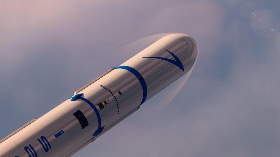 """Soll eine Tonne Nutzlast je Start ins All befördern: Ein computergeneriertes Bild einer """"Spectrum""""-Rakete des Raketenbauers Isar Aerospace"""