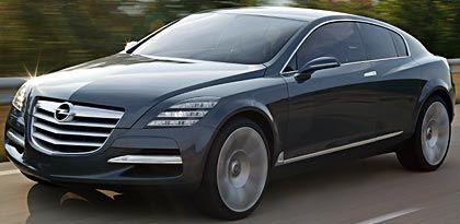 Opel Insignia: Die Studie wurde auf der IAA 2003 vorgestellt und soll die Rückkehr in die Oberklasse einläuten