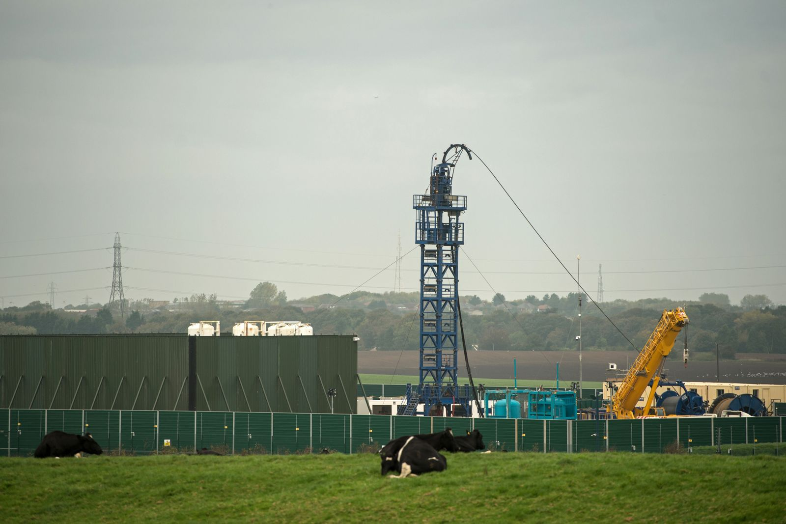 Preston New Road Cuadrilla Fracking Großbritannien