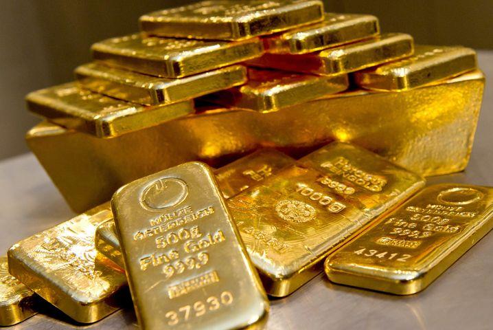 Goldbarren sind in der Krise begehrt