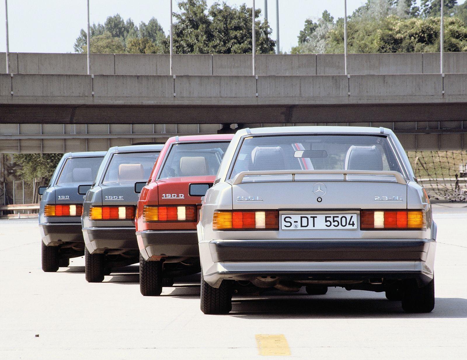 Mercedes-Benz C-Klasse und Vorgängerbaureihe seit 1982 Mercedes-Benz C-Class and predecessor model series since 1982